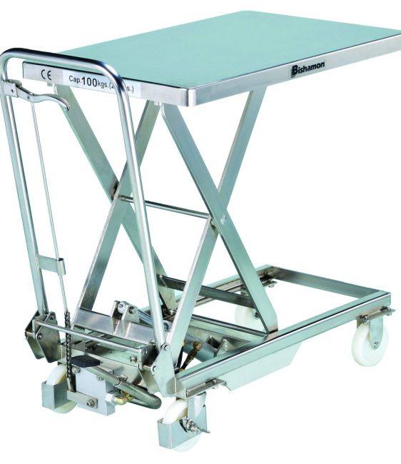 Table élévatrice hydraulique mobile 100 kg