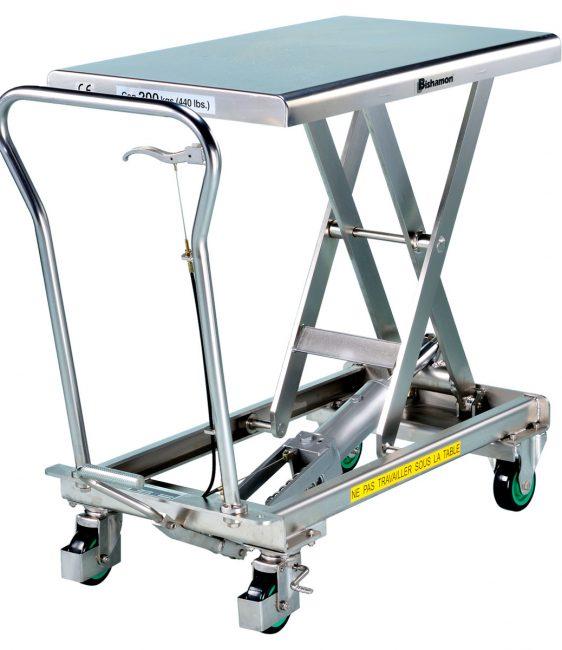 Table élévatrice hydraulique mobile 200 kg