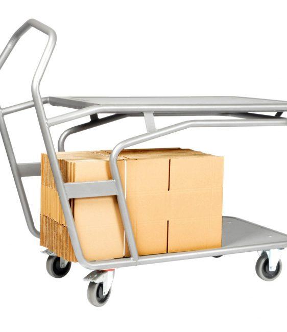 Chariot de préparation ergonomique 2 plateaux
