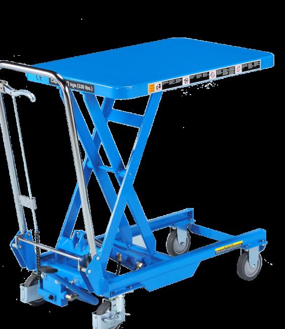table élévatrice hydraulique mobile - manuelle