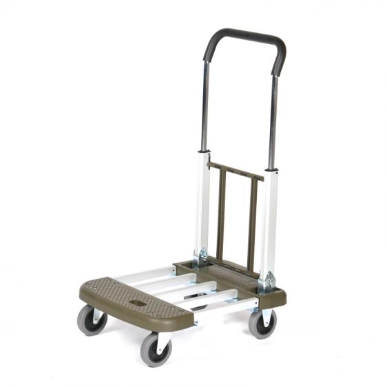 Chariot aluminium pliable et étirable